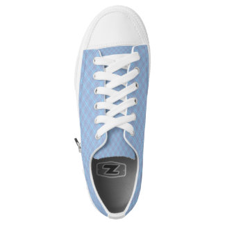 Blue Plaid Hashtag Baby Blue Girly Girl Low-Top Sneakers