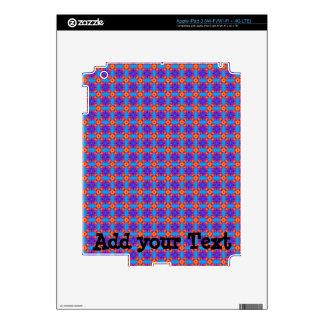Blue Plaid iPad 3 Decals