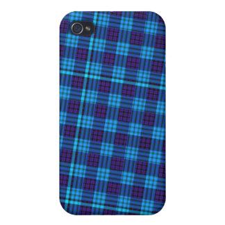 Blue Plaid  iPhone 4 Case