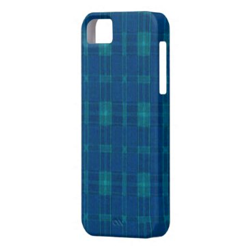 Blue Plaid iPhone 5G Case