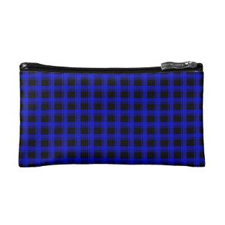 Blue Plaid Makeup Bag