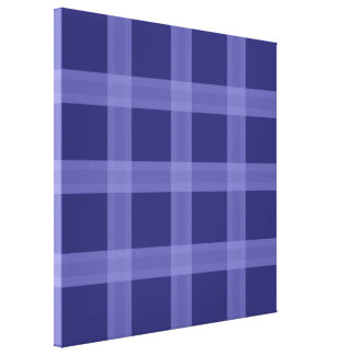 Blue Plaid Pattern Canvas Wall Art