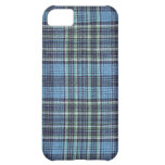 Blue Plaid Pattern Cover For iPhone 5C