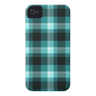 Blue Plaid Pattern iPhone 4 Case-Mate Case