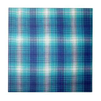 blue plaid pattern tile