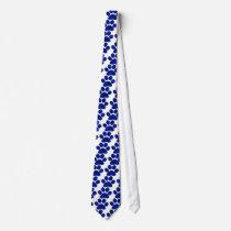 Blue Plaid Paw Print Tie