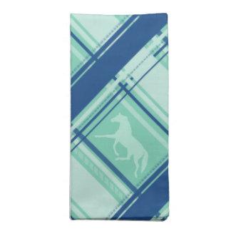 Blue Plaid Pony Pattern Napkin