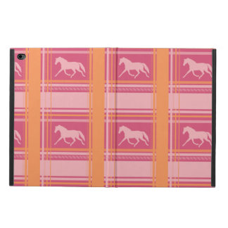 Blue Plaid Pony Pattern Powis iPad Air 2 Case