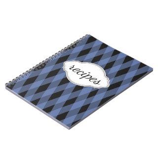 Blue Plaid Recipe Book Notebooks