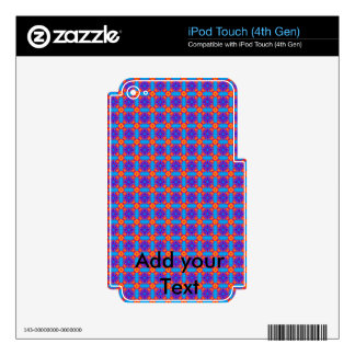 Blue Plaid Skin For iPod Touch 4G