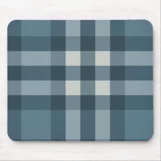 Blue Plaid Striped Design Mouse Pad