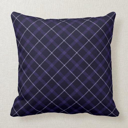Blue Plaid / Tartan Throw Pillow Zazzle