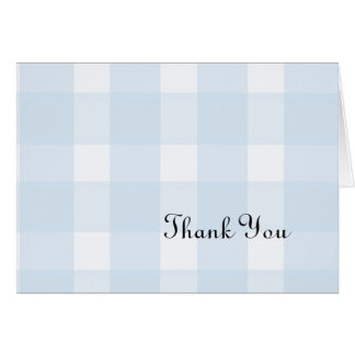 Blue Plaid Thank You Card