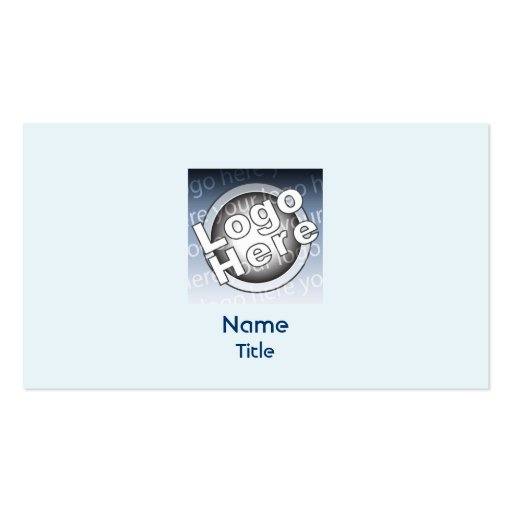 Blue Plain - Business Business Card Template