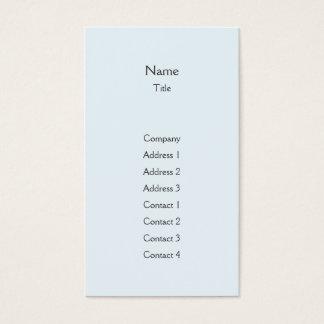Blue Plain Vertical - Business Business Card