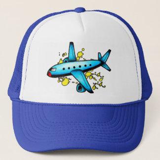 Blue Plane Guy Trucker Hat