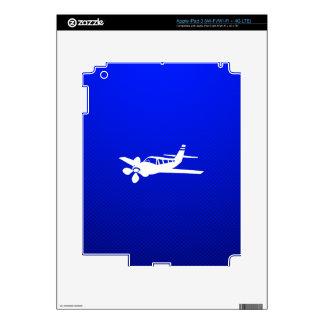Blue Plane Skins For iPad 3