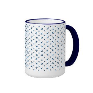 Blue Planes Background Mugs