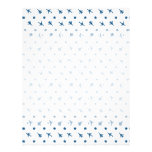 Blue Planes Pattern Letterhead Design
