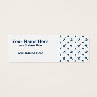Blue Planes Pattern Mini Business Card