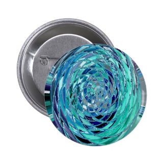 Blue Planet Abstract Button