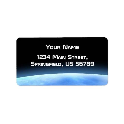 blue planet address label