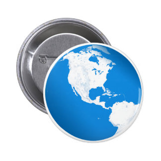 Blue Planet Earth Button