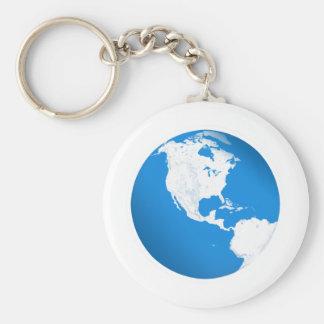Blue Planet Earth Key Chain