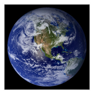Blue Planet Earth Poster