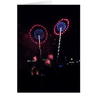 Blue Planet Fireworks I Card