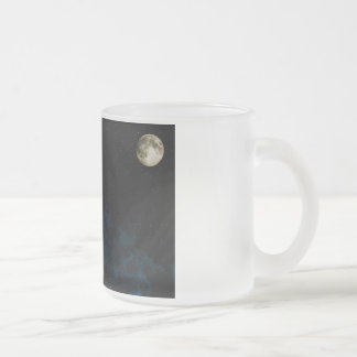 Blue Planet Frosted Glass Coffee Mug