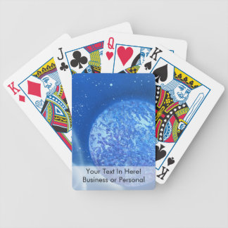 blue planet sky spacepainting bicycle playing cards