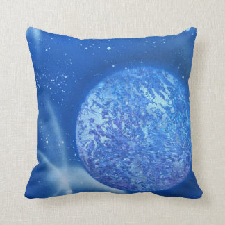blue planet sky spacepainting throw pillow