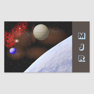 Blue Planet Space Scene Stickers