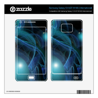 Blue Planets Fractal Flame Samsung Galaxy S II Decal