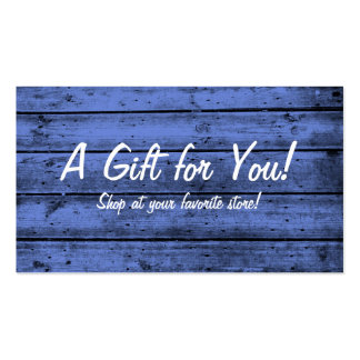 Blue Planked Gift Card