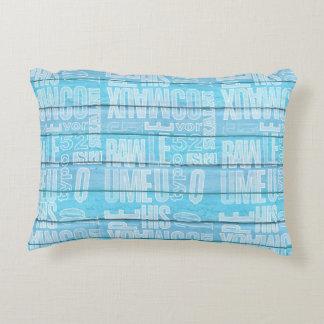 Blue Planks Decorative Pillow