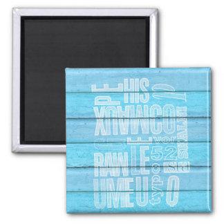 Blue Planks Magnet