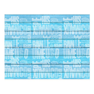 Blue Planks Postcard