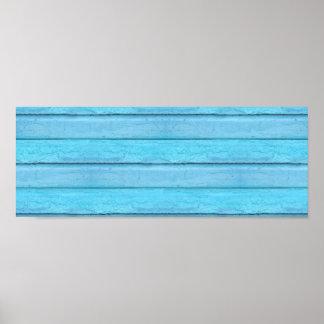 Blue Planks Poster