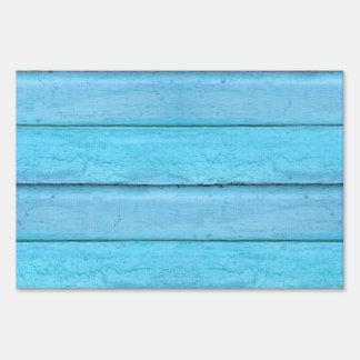 Blue Planks Sign