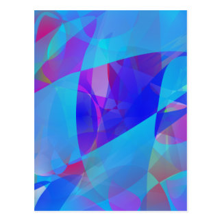 Blue Plankton Art Post Card