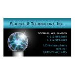 Blue Plasma Ball Science Business Cards