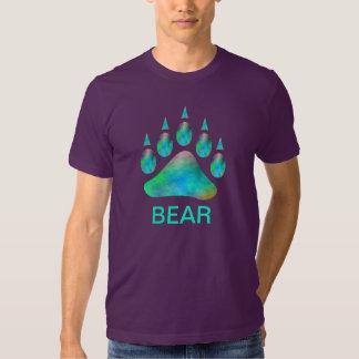 Blue Plasma Bear Pride Paw Gay Bear T Shirts