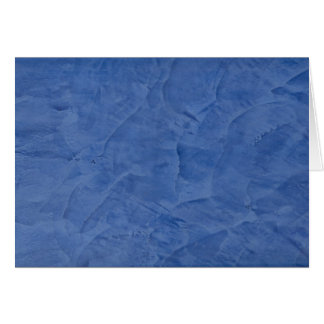 Blue Plaster Blank Greeting Card