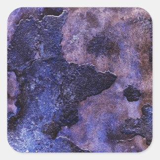 Blue Plaster Square Sticker