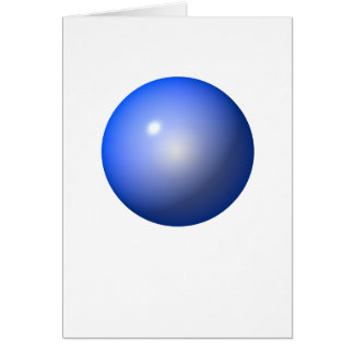 Blue Plastic ball graphic design background icon Greeting Card