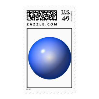 Blue Plastic ball graphic design background icon Postage Stamp