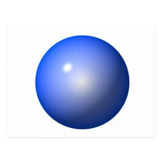 Blue Plastic ball graphic design background icon Postcard