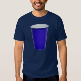 Blue Plastic Beer Party Cup Tshirts